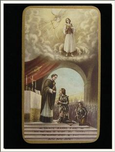 ANTIQUE FRENCH ST JOAN OF ARC - JEANNE D'ARC HOLY CARD