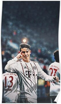 'Illustration James Art' Poster by davidandini James Rodriquez, Best Football Players, Football Boys, Soccer Players, Cristino Ronaldo, Ronaldo Juventus, Soccer Guys, Soccer Stars, James Rodriguez Wallpapers