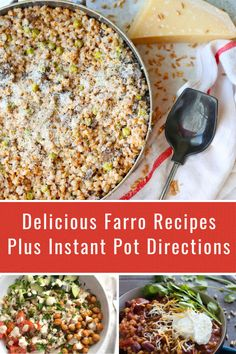 Looking for how to make farro in the Instant Pot? Cooking farro is really easy and quick. There are so many great Instant Pot farro recipes you have to try. Easy Dinner Recipes, Delicious Recipes, Real Food Recipes, Easy Meals, Healthy Recipes, Easy Recipes, Healthy Food, Farro Recipes, Family Meals