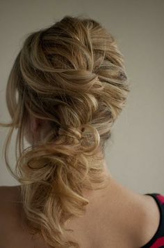 messy twist and pin side pony