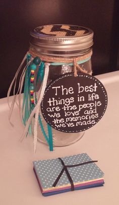 Memory Jar Ajm are going to do one each for their memories of Dad; but then I thought about making one each for the girls as their party bags for Amelia's birthday xx