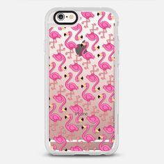 Pink Flamingo - protective iPhone 6 phone case in Clear and Clear by JandiLu | Feel the summer vibe with Flamingo! >>> https://www.casetify.com/product/emKRB_pink-flamingo/iphone6s/new-standard-case#/177607 | @casetify