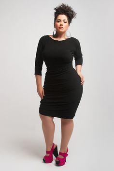 Short black dress plus size
