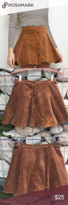 Brandy Melville Brown Corduroy Skirt Super cute brown corduroy skirt from Brand Melville. Very good used condition. Offers welcome. Brandy Melville Skirts