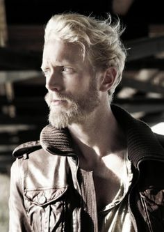Men's Blonde Hair and Beard, Icelandic, Nordic.