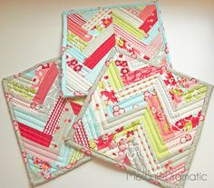 Quilted Potholders or Trivets by Melanie Dramatic, via Flickr