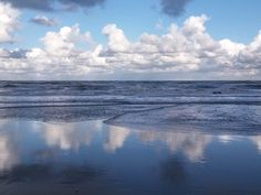 Nature is magic - blue mirror North sea - the Netherlands - For a short personal message - for a sea lover - as a gift - or to frame it! Blue Mirrors, North Sea, Frame It, Netherlands, Postcards, Waves, Beach, Nature, Prints