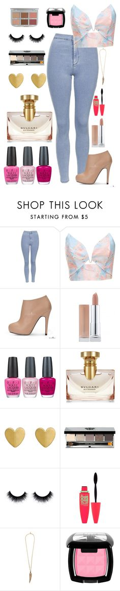 """""""Day Out"""" by lovecarabear ❤ liked on Polyvore featuring Topshop, Zimmermann, OPI, Bulgari, Bobbi Brown Cosmetics, Maybelline, Roberto Cavalli and BeautyTrend"""