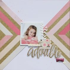 Ellesscrap. I would have a pink or metallic gold page where they show white.