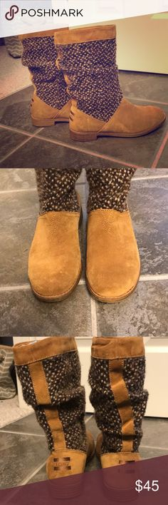 d008738887c Toms Brown suede sweater boots size 6.5