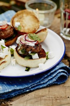 If burgers are too big for your outdoor party and finger food is not quite substantial enough, these lamb sliders are sure to keep all your guests happy.