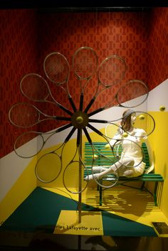 Tennis at Galeries Lafayette visual merchandising