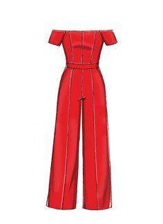 McCall's M7728 Misses'/Miss Petite Jumpsuits #sewingpattern #jumpsuit