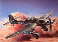"JUNKERS Ju87 G-2 ""STUKA"" DIVE B0MBER Illustrated by Shigeo Koike , イラスト:小池繁夫氏"