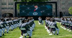 """President Trump oversold his administration's military record in a commencement speech at the United States Military Academy at West Point on Saturday. Here's a fact-check of his claims.""""To ensure you have the very best equipment and technology available, my administration has embarked on a colossal United States Military Academy, Military Records, Old Planes, Heritage Foundation, Naval Academy, Afghanistan War, Obama Administration, Armed Forces, Barack Obama"""