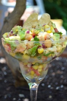 Sweet Corn Confetti Salsa ~ A refreshing, light and fresh take on corn salsa.