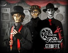 Steam Powered Giraffe (SPG) is a musical project formed in San Diego in 2008 that is popular in the steampunk subculture. Description from imgarcade.com. I searched for this on bing.com/images