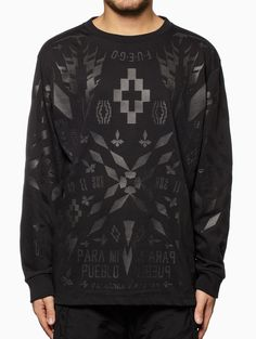 Tami l/s t-shirt from the S/S2015 Marcelo Burlon County of Milan in black.