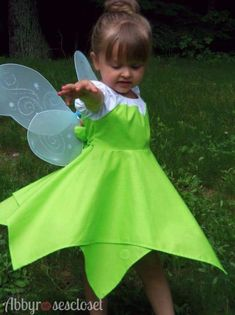 Use pattern to make many different costumes and dress up dresses! This Tinkerbell pattern comes in size 1/2 - 8. It is a peasant style dress that your daughter will be able to get on and off by herself, with elastic neck and sleeves. The front and back bodice and sleeves are all shaped for a great fit. The sash ties are perfect for slender girls and for growth. Short sleeves with sweetheart overlay. Double set-in hanker-chief hem skirt is full of twirl! This pdf pattern is a beautiful, c...
