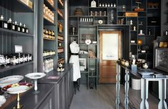 Off shoot photo from the Beekman 1802 Boys feature in Anthology Magazine Winter Issue no. Photograph taken by Alec Hemer. A Shelf, Shelves, Wentworth Woodhouse, Beekman 1802, Cafe Style, Store Displays, Coffee Shop, Liquor Cabinet, Beautiful Homes