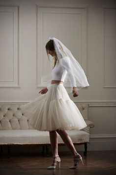 Needle & Thread's Debut Bridal Range - short skirt and separate top
