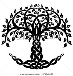 Vector ornament, decorative Celtic tree of life - stock vector