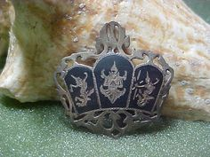 Siam Sterling Silver Niello Nielloware by LEFIALYNNCREATIONS, $25.00