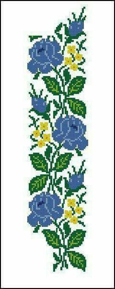 This Pin was discovered by Kau Easy Cross Stitch Patterns, Cross Stitch Borders, Cross Stitch Rose, Simple Cross Stitch, Cross Stitch Flowers, Modern Cross Stitch, Cross Stitch Designs, Cross Stitching, Cross Stitch Embroidery