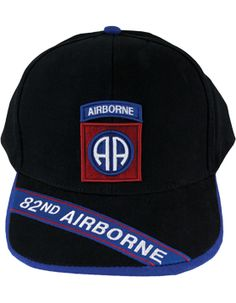 BLACK CAP W 82 AIRBORNE DIV PATCH   AIRBORNE TAB 82nd Airborne Division 31ad84e70