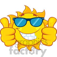 8e55cccaca smiling sun cartoon mascot character with sunglasses giving a double thumbs  up vector illustration isolated on white background clipart. Royalty-free  ...