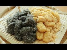 Muah Chee – 麻糍 – The MeatMen – Your Local Cooking Channel Asian Snacks, Asian Desserts, Sweet Desserts, Sweet Recipes, Chinese Desserts, Chinese Recipes, Malaysian Dessert, Malaysian Food, Malaysian Recipes