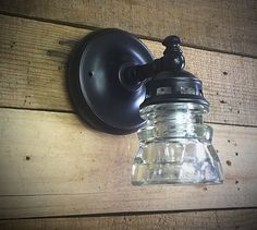 Glass Insulator Light Wall Sconce Wall by GlassInsulatorLights