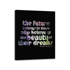 Eleanor Roosevelt Quote Canvas Inspirational Stretched Canvas Ready to Hang 28x22 Inches