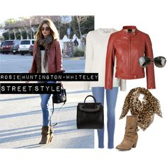 """""""Rosie Huntington-Whiteley Street Style"""" by two-pennies on Polyvore"""