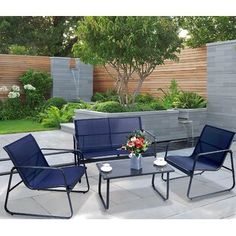Sol 72 Outdoor™ Merlyn 11 Piece Sectional Seating Group with Cushions | Wayfair Metal Patio Furniture, Outdoor Furniture Sets, Balcony Furniture, Garden Furniture, Outdoor Seating, Outdoor Decor, Outdoor Living Areas, Outdoor Spaces, Studio