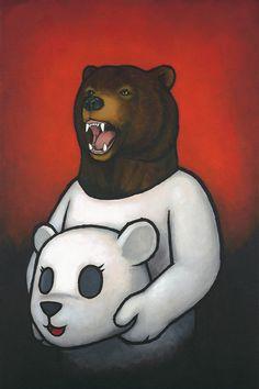 'Bear In Mind' by Luke Chueh - Fine Art Prints are available at Eyes On Walls: http://www.eyesonwalls.com/collections/luke-chueh  #art #lukechueh #bear #eyesonwalls
