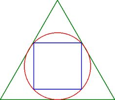 What is the area of a square inscribed in a circle, which in turn is inscribed in an equilateral triangle of side 'a'?
