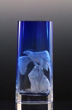 Goddess 2698, hand cut vase » Moser glassworks - Luxury Bohemian Crystal Glass