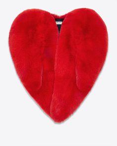 Saint Laurent Red Heart Cape