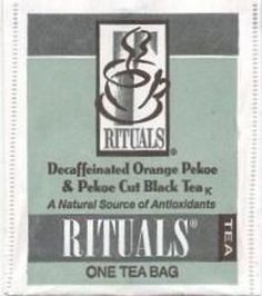 orange pekoe and pekoe cut black tea bags decaffeinated