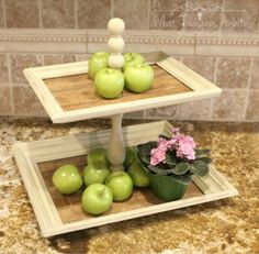 Thrift Store Frames To Tiered Tray Stand