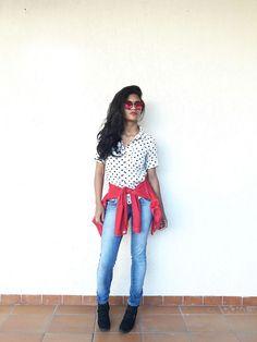 looks Blusa –Vintage Heart Blouse Romwe /Oculos – Celeb Multi Polygon  Eyewear Sunglasses- Tosave/Bota – Black Boots Samydress estilo proprio by sir @sicaramos