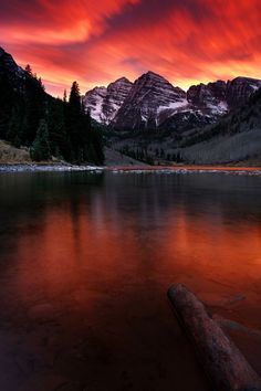 "vurtual: "" End of the World at Maroon Bells - Colorado (by Chung Hu) """