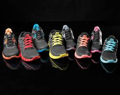 Nike Running Black Pack January I will take a pair in every color. Neon Running Shoes, Zumba Shoes, Girl Running, Nike Free Outfit, Zumba Outfit, Nike Shoes Cheap, Cheap Nike, Nike Runners, Nike Free Run 3