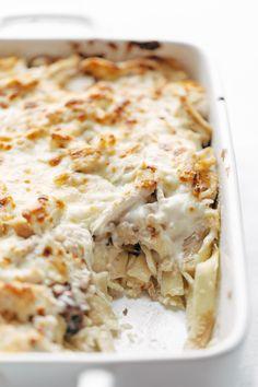 Chicken Tetrazzini - roast chicken, egg noodles, garlic mushrooms, and silky creamy sauce. can't go wrong. | pinchofyum.com