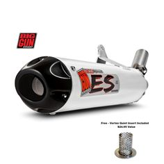 Big Gun Exhaust Eco System Slip On Pipe Kodiak Grizzly 700 Ktm 450, Polaris Rzr 800, Stainless Steel Pipe, Utv Parts, Big Guns, Motorcycle Parts And Accessories, Exhausted, Eco System, Atv