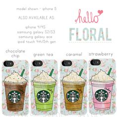 Personalised Starbucks Frappuccino floral girly by hellofloral, £15.00
