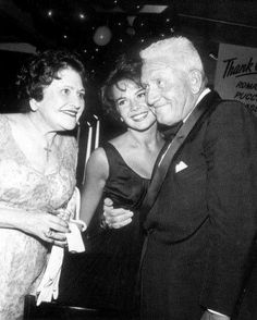 Natalie with Louella Parsons and actor Spencer Tracy #blackandwhite