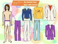 George harrison the beatles paper dolls