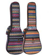 "Niko 21"" 23"" 26"" Ukulele Bag Ethnic Embroidery Fabrics Mini Guitar Soft Case Gig Bag #Affiliate"